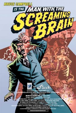 Man With The Screaming Brain Affiche