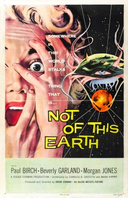 Not of this earth Affiche