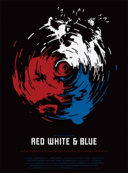 Red, White, and blue Affiche