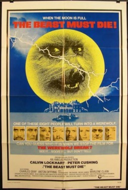 The Beast Must Die Affiche