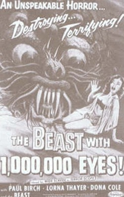 The Beast With A Million Eyes Affiche