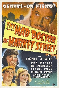 The mad doctor of market street Affiche
