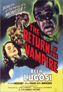 The Return of the vampire Affiche